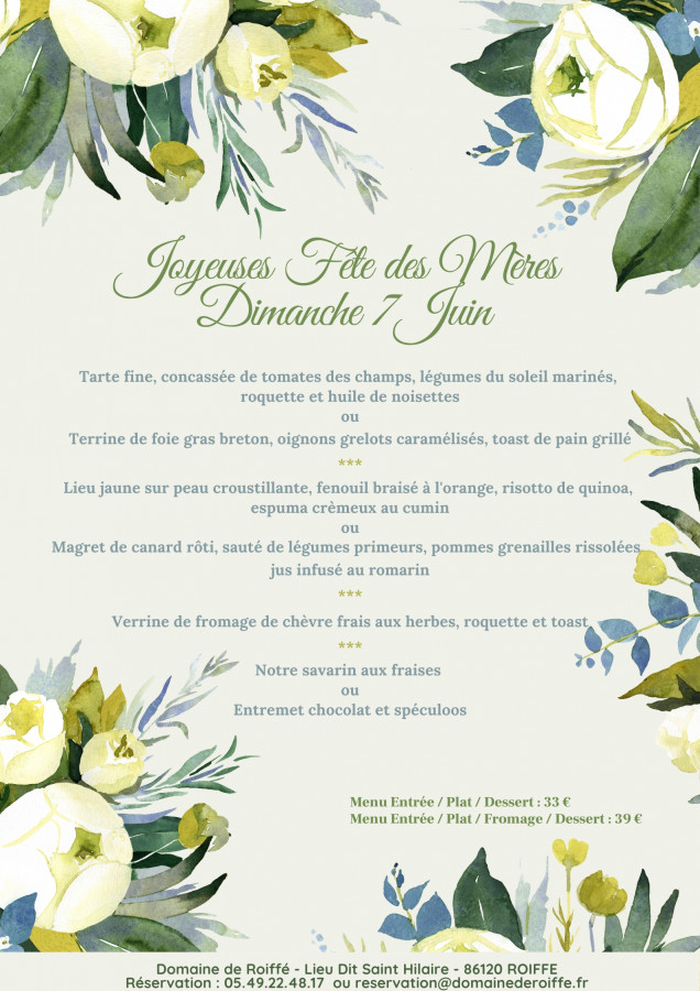 Mother's Day at the Domaine de Roiffé