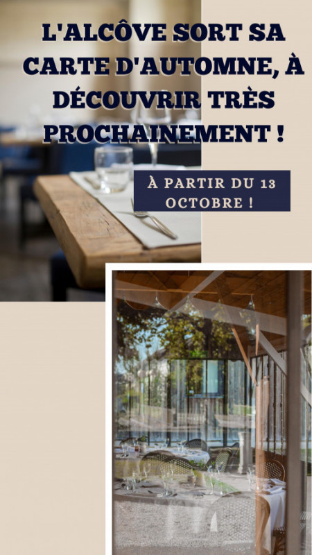 Herbstmenü des Restaurants l'Alcôve